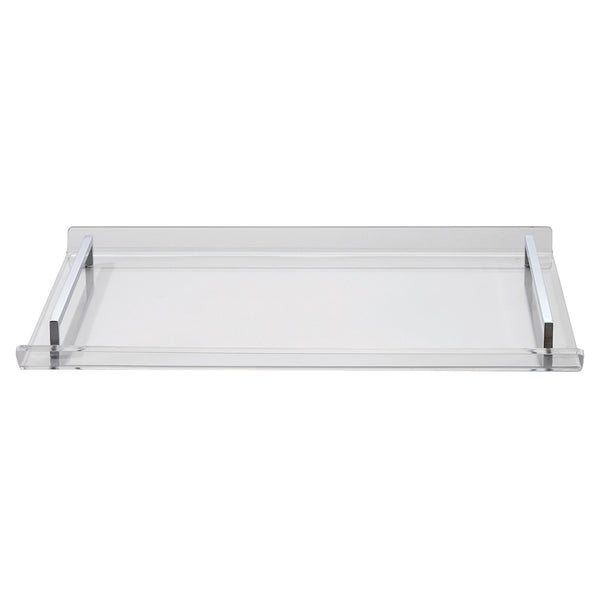 Small Clear Acrylic Tray with Chrome Handles