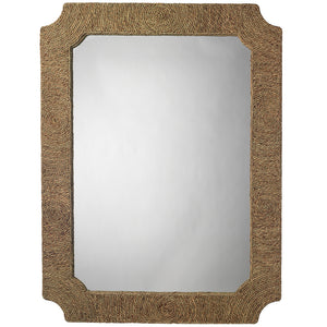 Natural Sea Grass Rectangular Mirror
