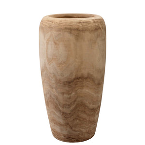 Hand Carved Wooden Vase – Small