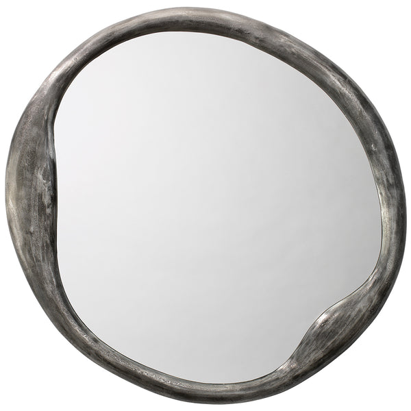 Organic Round-Shaped Mirror – Iron