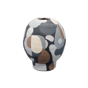 Hand Painted Contemporary Vase – Short