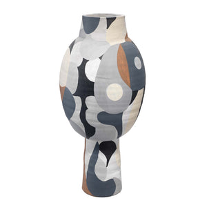 Hand Painted Contemporary Vase – Tall