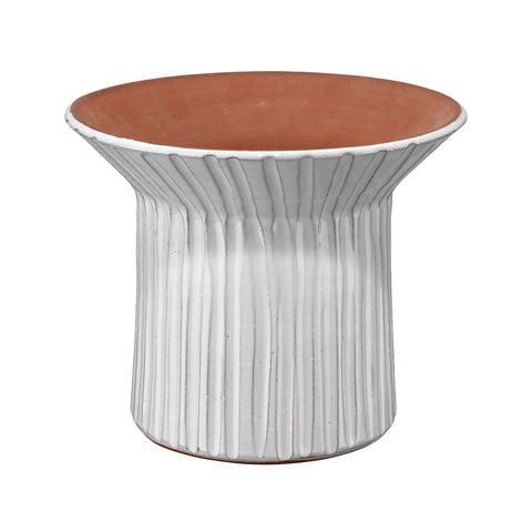Two Tone Fluted Ceramic Vessel – Short