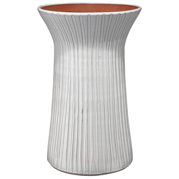 Two Tone Fluted Ceramic Vessel – Tall