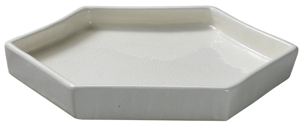 Small Porto Tray in White Ceramic