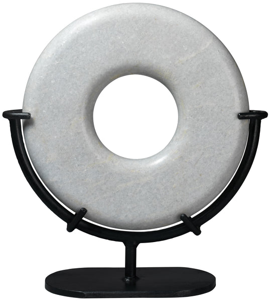 Large Marble Ring in White Marble