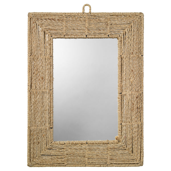 Natural Jute Rope Rectangular Mirror