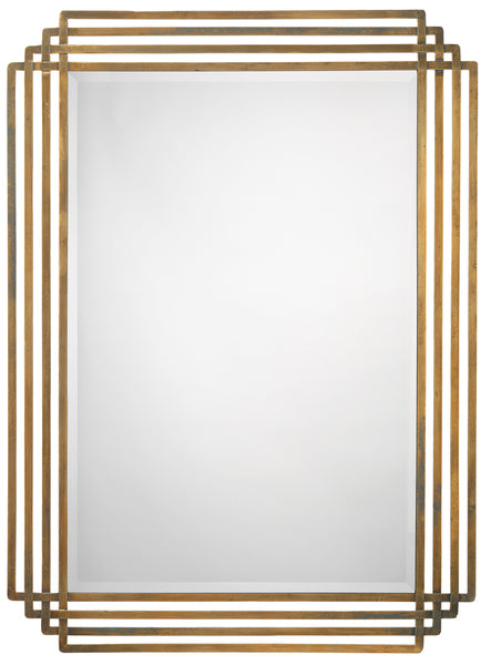 Serai Mirror in Antique Brass