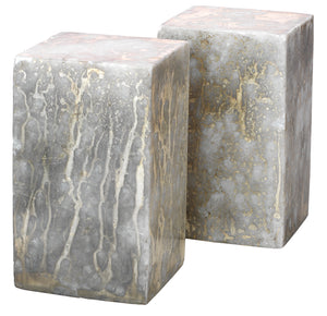 Slab Rectangle Bookends in Silver and Gold (set of 2)