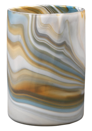 Medium Terrene Vase in Grey Swirl Glass
