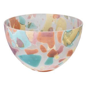 Multicolor Decorative Hand Blown Glass Bowl  – Large