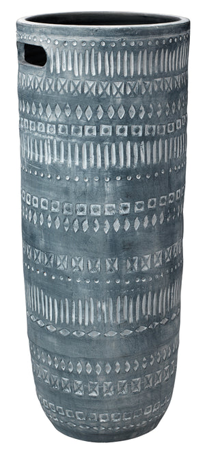 Large Zion Ceramic Vase in Grey and White