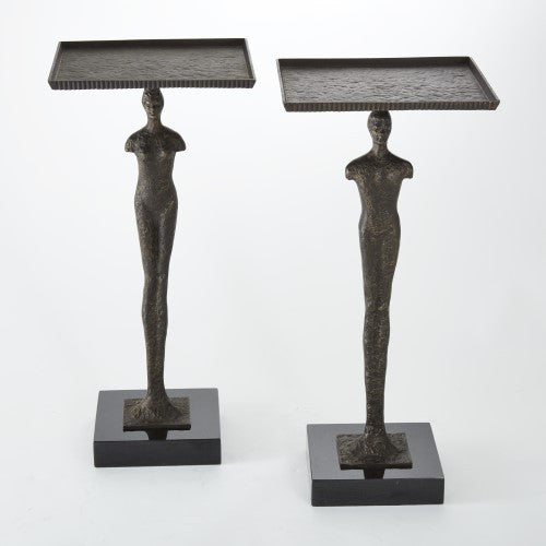 Modern Man Side Table – Bronze