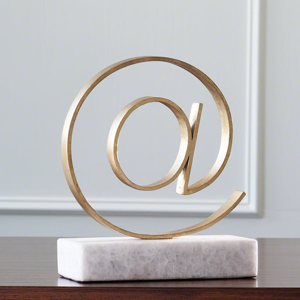 Cast Iron & Marble At Symbol Sculpture – Gold