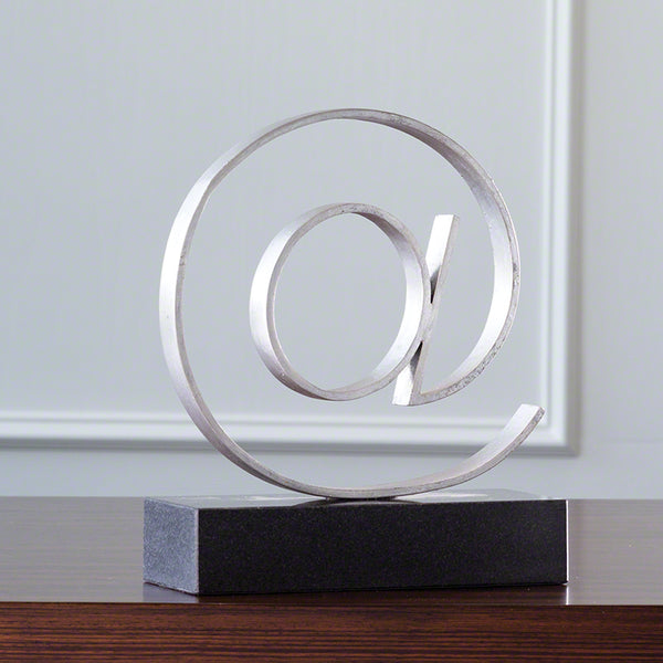 Cast Iron & Marble At Symbol Sculpture – Silver