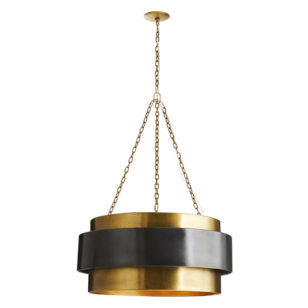 Arteriors Nolan Large Floating Band Pendant – Vintage Brass & Bronze