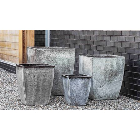 Blake Square Tapered Planter in Heather – Set of 4