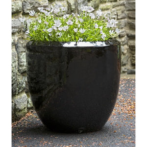 Timolos Round Planter in Dark Cola Black/Brown  – Set of 3