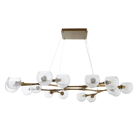 Arteriors Mahowald Large Modern 16-Globe Chandelier – Antique Brass
