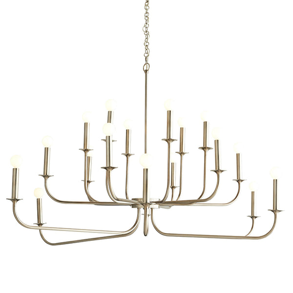 Arteriors Breck Large 2-Tier Modern Chandelier – Antique Silver