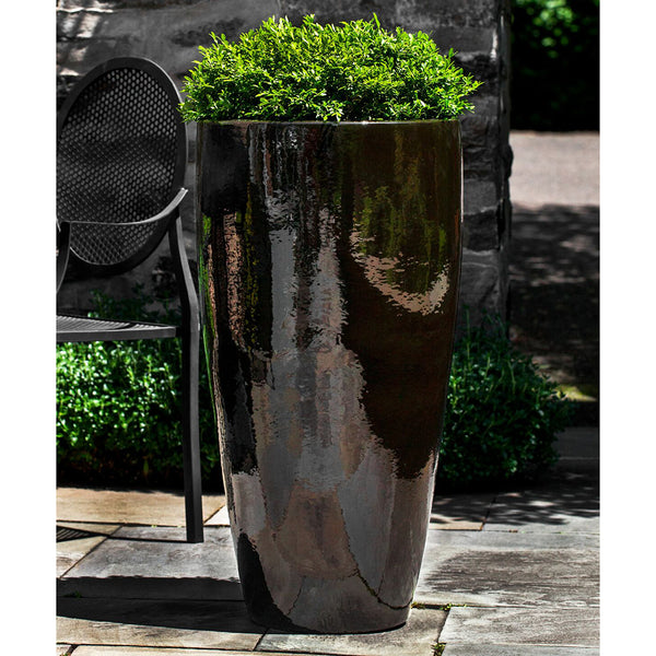Dark Black/Brown Cola Tapered Planters – Set of 2