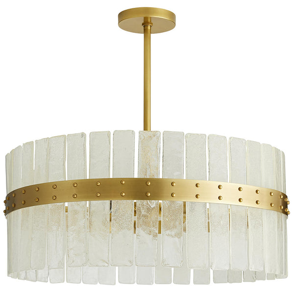 Arteriors Sinclair Seeded Glass Panels Skirt Chandelier
