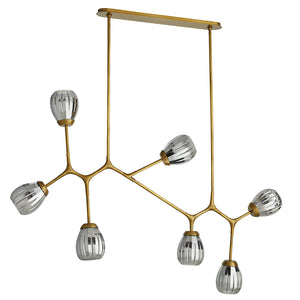 Arteriors Smyth Modern Angular Arms Chandelier – Antique Brass
