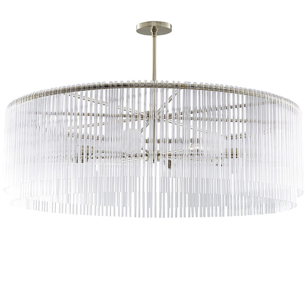 Arteriors Royalton Draped Glass Small Chandelier – Soft Silver