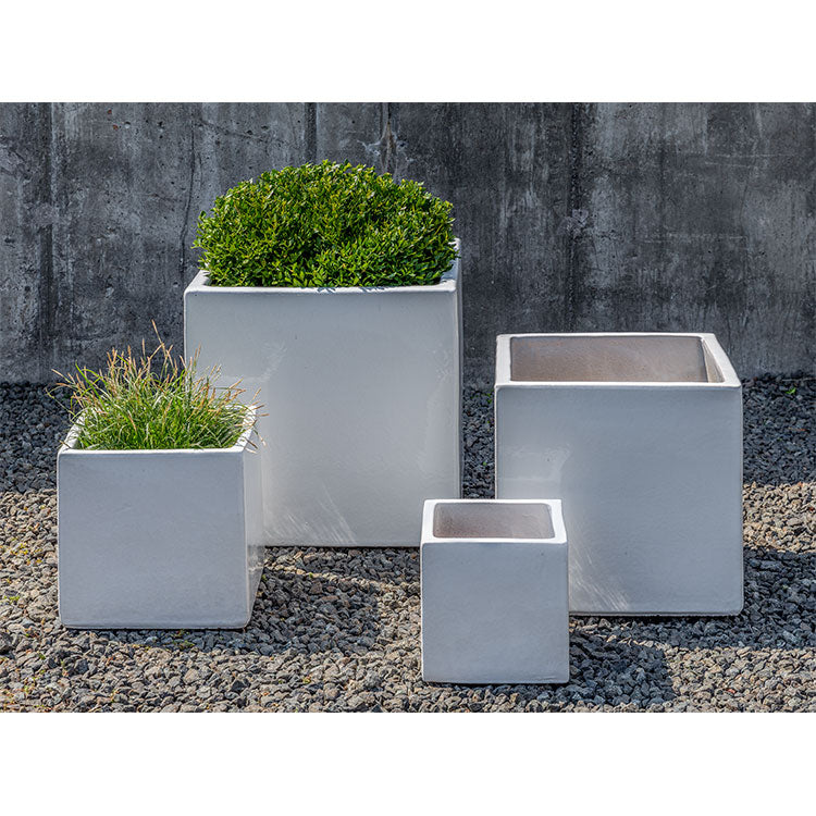 Hancock Cube Planter in White – Set of 4