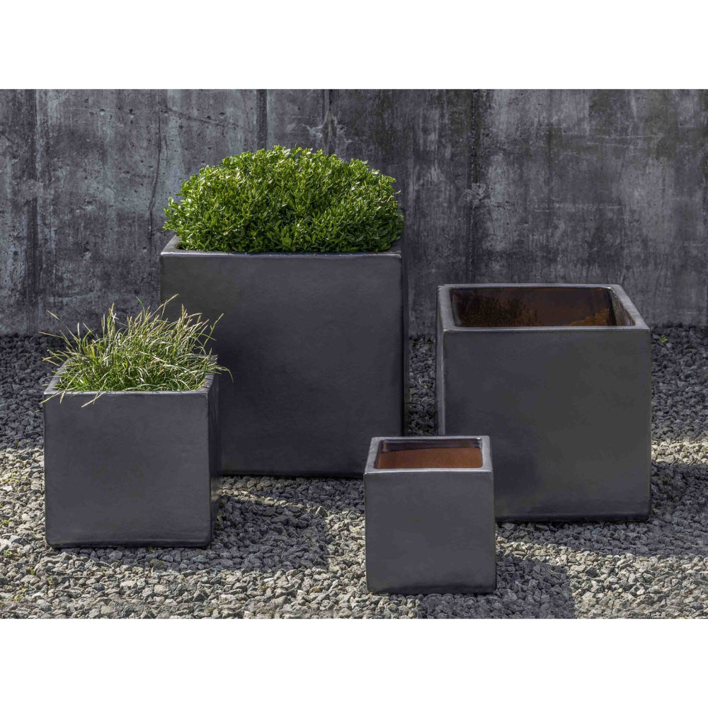 Hancock Cube Planter in Metal Grey – Set of 4