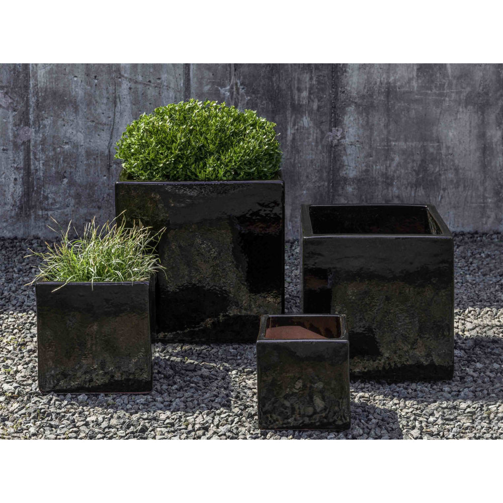 Hancock Cube Planter in Cola – Set of 4