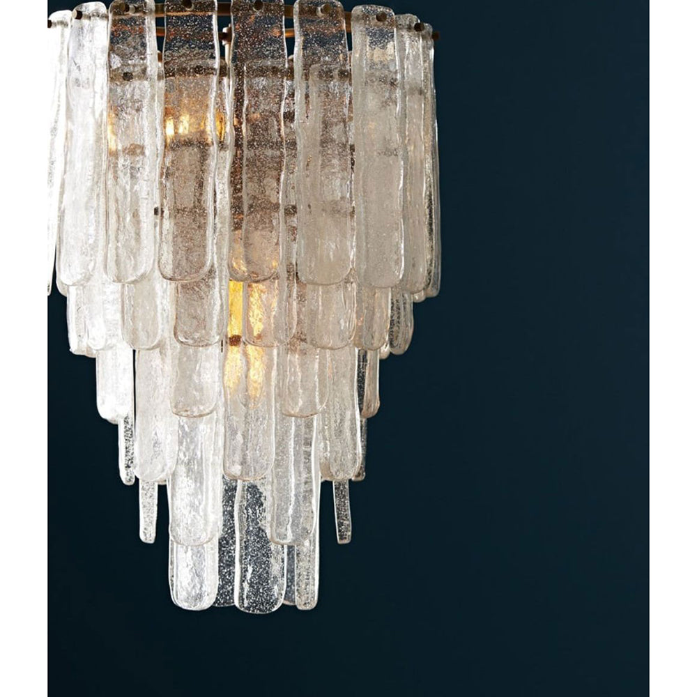 Arteriors larie small 5 tier chandelier with cascading glass plates arteriors larie small 5 tier chandelier with cascading glass plates arubaitofo Images