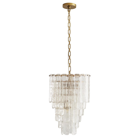 Arteriors Larie Small 5-Tier Chandelier with Cascading Glass Plates