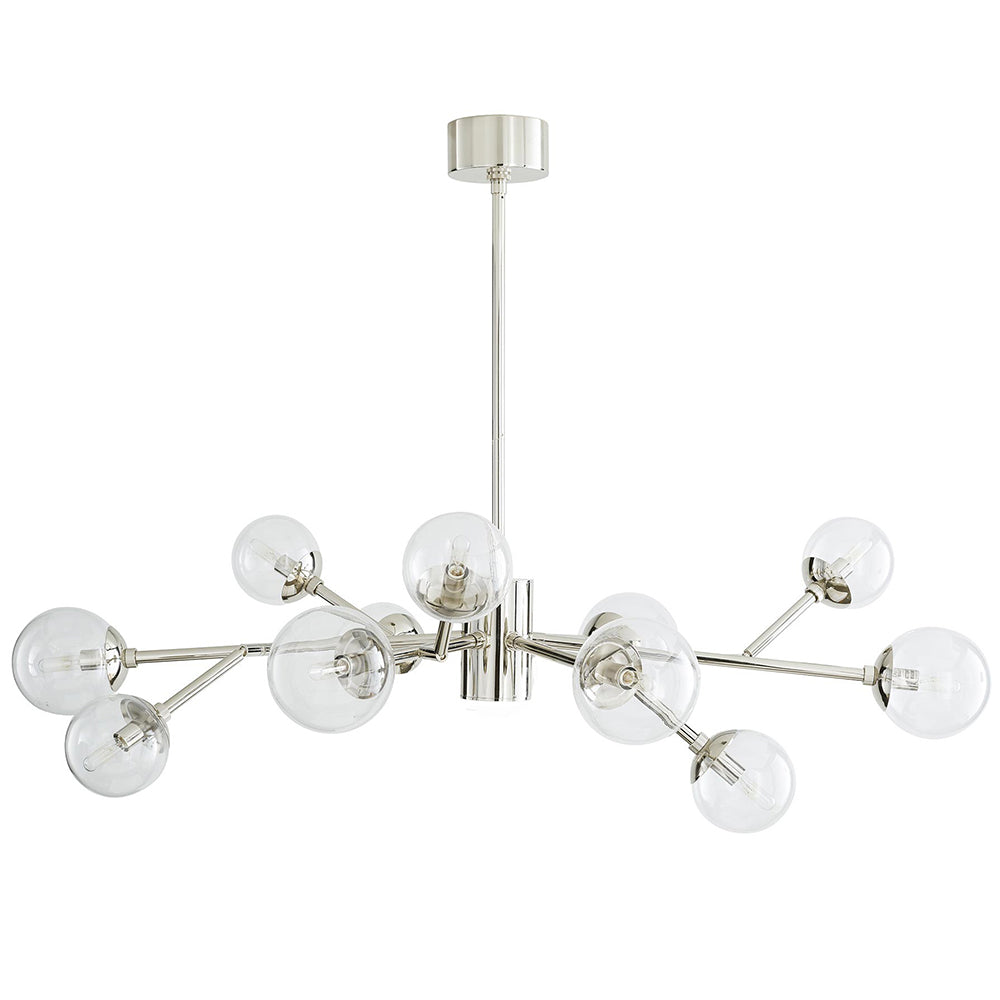 Arteriors Dallas 12-Globe Chandelier – Polished Nickel