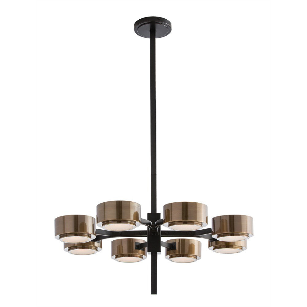 Arteriors Jalen Modern Spoked Chandelier – Bronze & Antique Brass