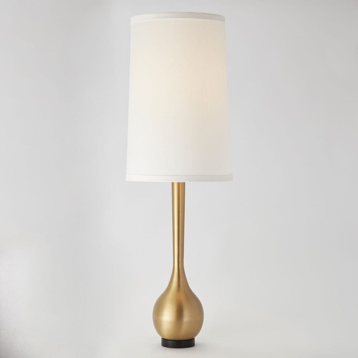 Tall Modern Table Lamp – Antique Brass