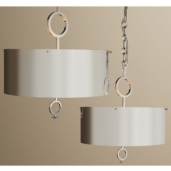 Polished Nickel 'O' Pendant Chandelier – Large or Small