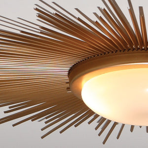 Sunburst Ceiling Light Fixture – Gold