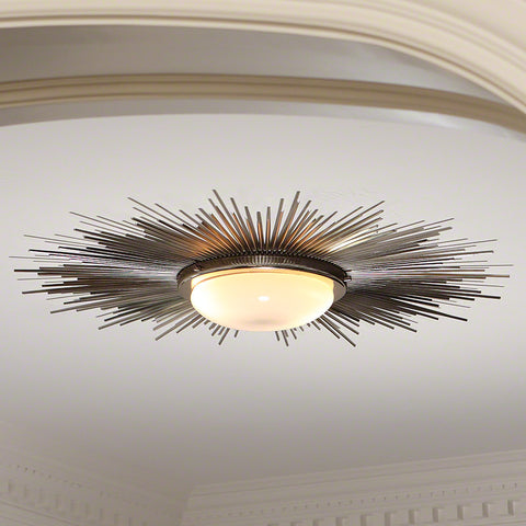 Sunburst Ceiling Light Fixture – Nickel
