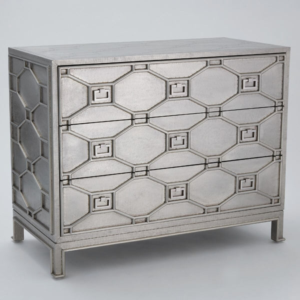 Fretwork 3-Drawer Chest