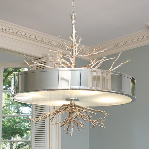 Large Twig Chandelier – Nickel