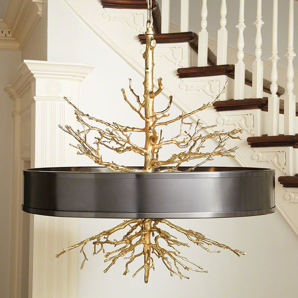 Large Twig Chandelier – Brass