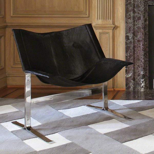 Cantilever Hide Chair – Black