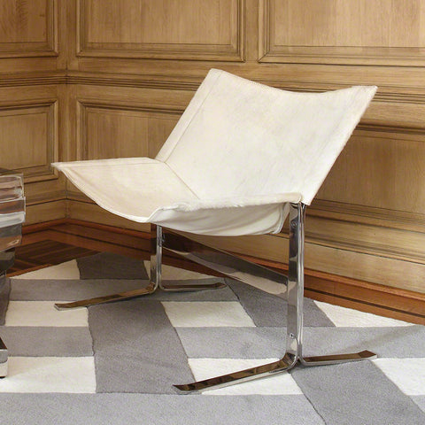 Cantilever Hide Chair – Cream