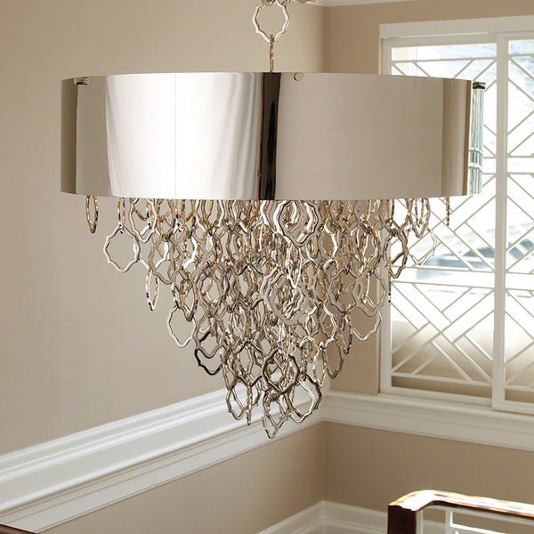 Chain Cascade Pendant – Nickel