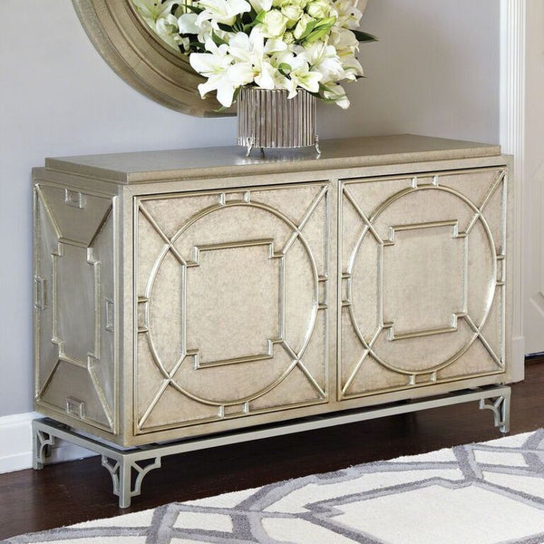 Arabesque 2-Door Chest – Antique Silver