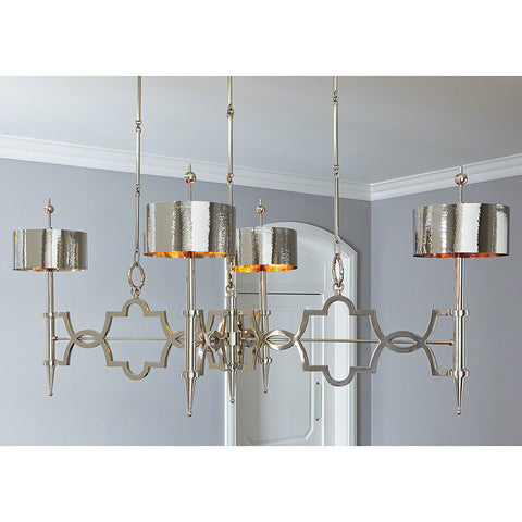 Large Quatrefoil Chandelier – Nickel
