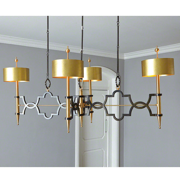 Large Quatrefoil Chandelier – Bronze