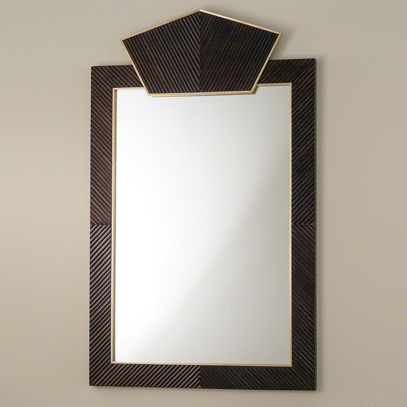 Carved Extra Large Wooden Mirror   Dark Brown