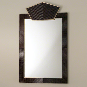 Carved Extra Large Wooden Mirror – Dark Brown